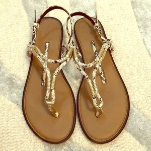 5 for $14 - New Direction Snake Skin Sandals